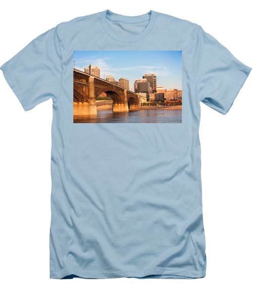 Eads Bridge At St Louis Men's T-Shirt (Slim Fit) by Semmick Photo