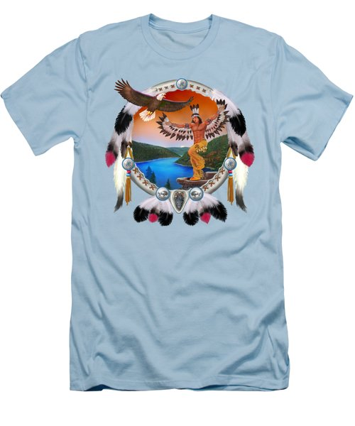 Eagle Dancer Men's T-Shirt (Slim Fit) by Glenn Holbrook