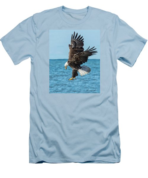 Eagle Dive Men's T-Shirt (Slim Fit) by CR  Courson