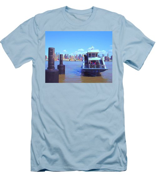 Men's T-Shirt (Athletic Fit) featuring the mixed media Early Arrival by Lynda Lehmann