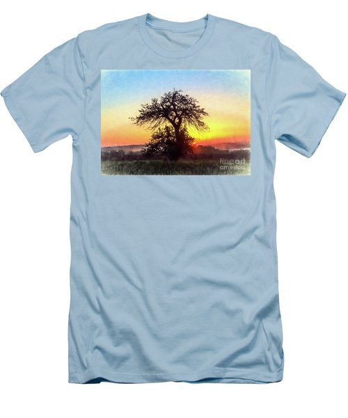 Men's T-Shirt (Slim Fit) featuring the photograph Early Morning Sunrise by Jim Lepard