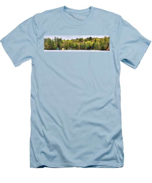 Early Spring Panorama Men's T-Shirt (Slim Fit) by David Patterson