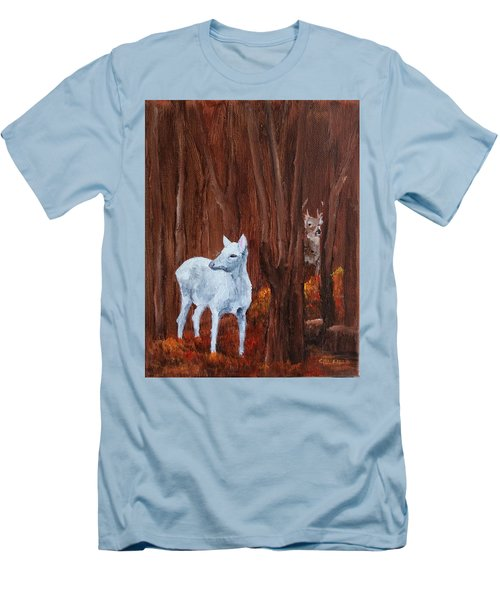 East Aurora Albino Deer,  Men's T-Shirt (Athletic Fit)