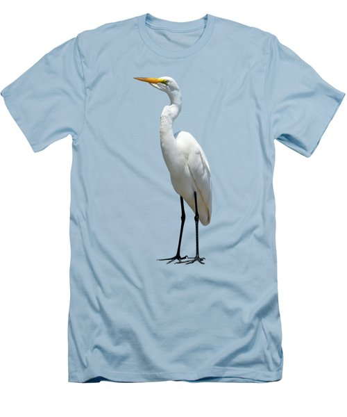 Eastern Great Egret Ardea Alba Modesta Men's T-Shirt (Athletic Fit)