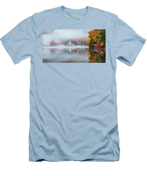 Eaton, Nh Men's T-Shirt (Slim Fit) by Robert Clifford