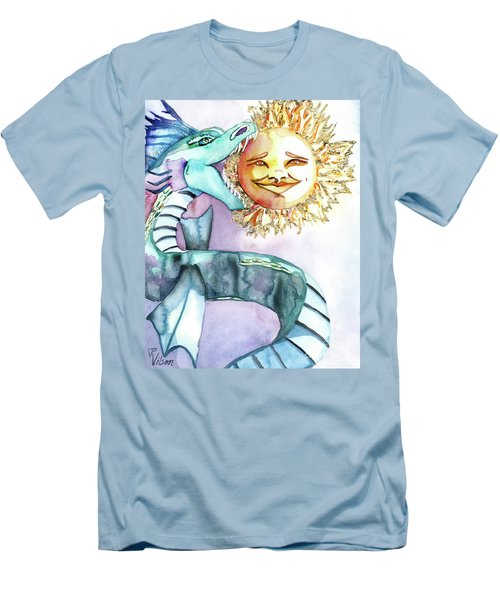 Eclipse Dragon Sun Eater Men's T-Shirt (Athletic Fit)