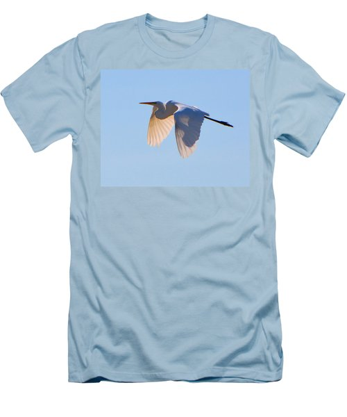Egret In Silhouette Men's T-Shirt (Athletic Fit)