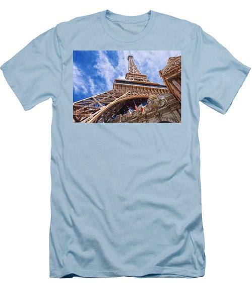 Men's T-Shirt (Slim Fit) featuring the photograph Eiffel Tower Las Vegas  by Ricardo J Ruiz de Porras