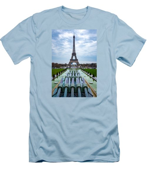 Eiffeltower From Trocadero Garden Men's T-Shirt (Athletic Fit)