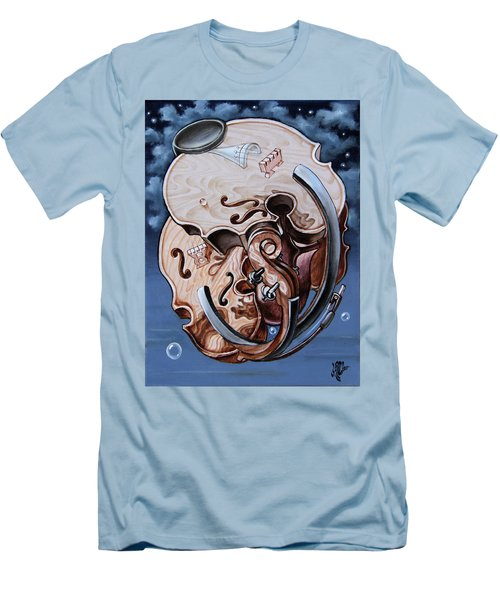 Einstein's Violin. Op.2763 Men's T-Shirt (Athletic Fit)