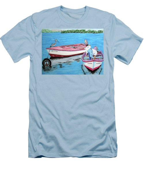 El Pescador De Guanica Men's T-Shirt (Slim Fit) by Luis F Rodriguez