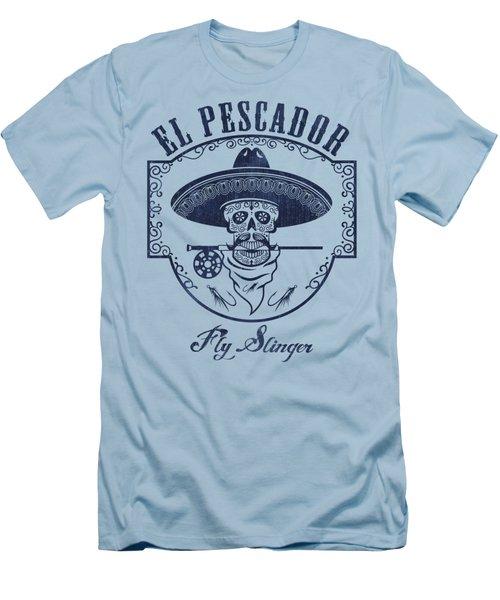 El Pescador Men's T-Shirt (Slim Fit) by Kevin Putman