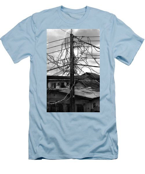 Up Nepa Electricity Pole Men's T-Shirt (Athletic Fit)