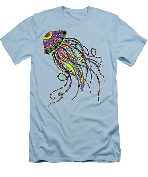 Electric Jellyfish Men's T-Shirt (Slim Fit) by Tammy Wetzel