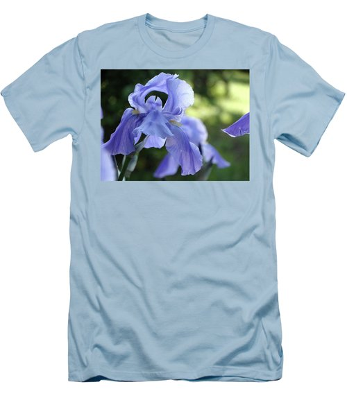 Elegant Iris In Spring Men's T-Shirt (Slim Fit) by Rebecca Overton