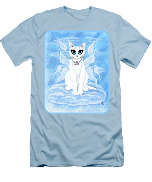 Elemental Air Fairy Cat Men's T-Shirt (Slim Fit) by Carrie Hawks