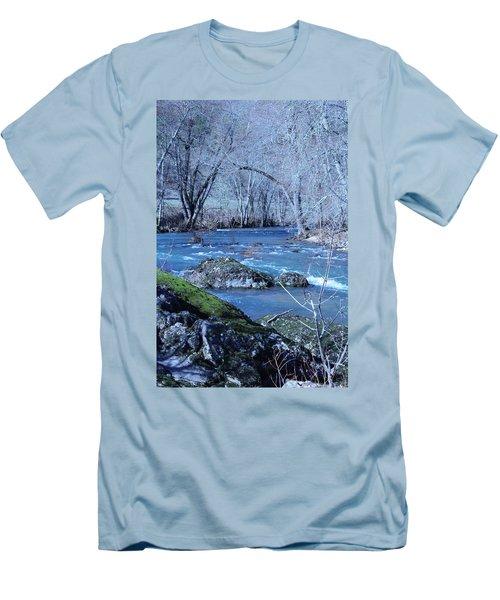 Men's T-Shirt (Slim Fit) featuring the photograph Elk Creek Wonderland by Marie Neder