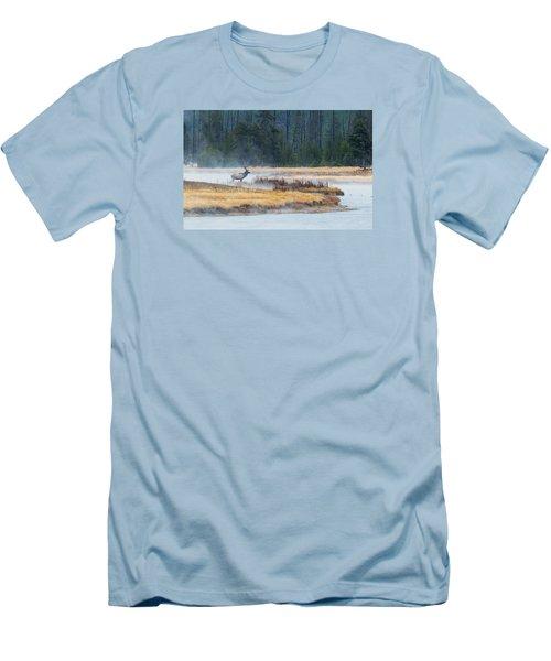 Elk Crossing Men's T-Shirt (Athletic Fit)