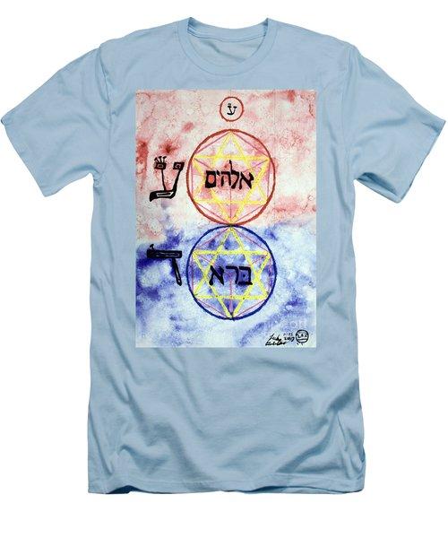 Elohim Bara Men's T-Shirt (Slim Fit) by Luke Galutia