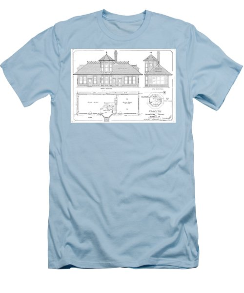 Elyria, Oh Station Men's T-Shirt (Athletic Fit)