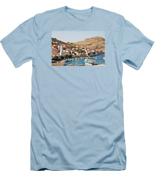 Emborio Village On Halki Men's T-Shirt (Athletic Fit)