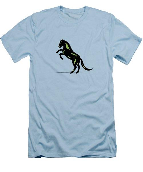 Emma - Pop Art Horse - Black, Greenery, Island Paradise Blue Men's T-Shirt (Athletic Fit)