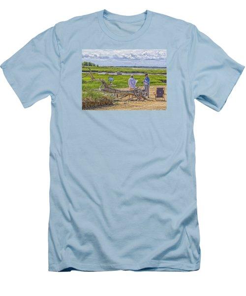 Men's T-Shirt (Slim Fit) featuring the photograph En Plein Air  Cape Cod by Constantine Gregory