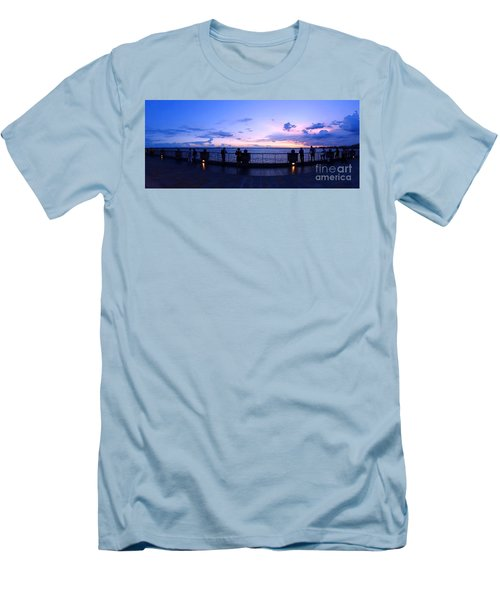 Enjoying The Beautiful Evening Sky Men's T-Shirt (Athletic Fit)