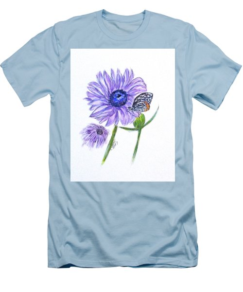 Erika's Butterfly Three Men's T-Shirt (Slim Fit) by Clyde J Kell