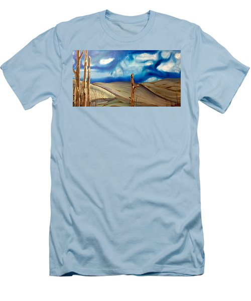 Escape Men's T-Shirt (Slim Fit) by Pat Purdy