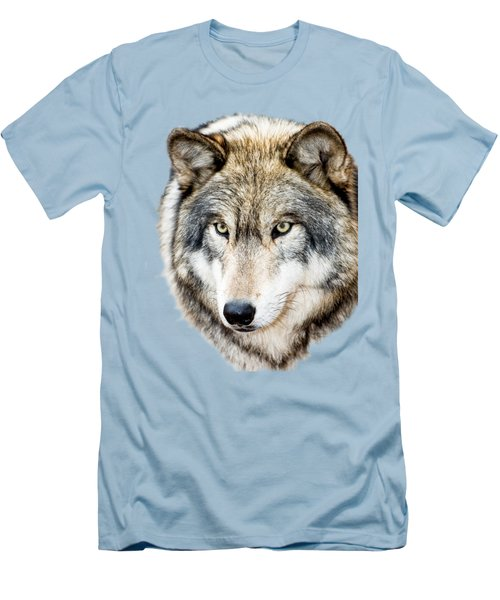 Essence Of Wolf Men's T-Shirt (Slim Fit) by Gary Slawsky