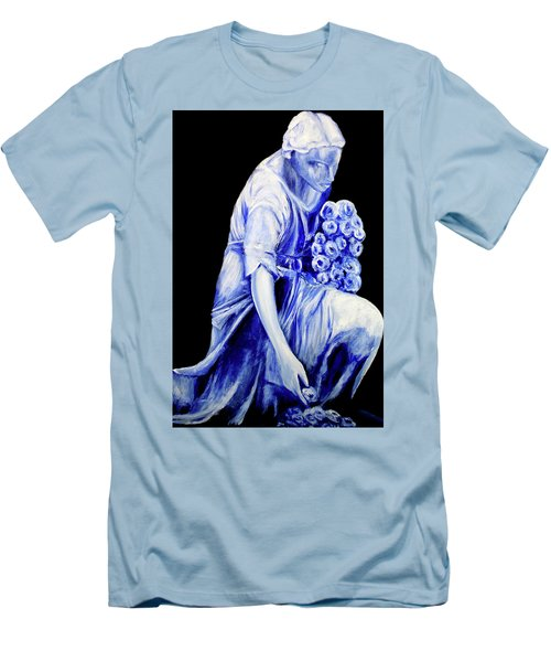 Flower Girl In Blue Men's T-Shirt (Athletic Fit)