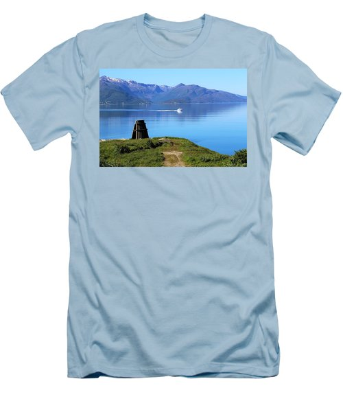 Evenes, Fjord In The North Of Norway Men's T-Shirt (Slim Fit) by Tamara Sushko