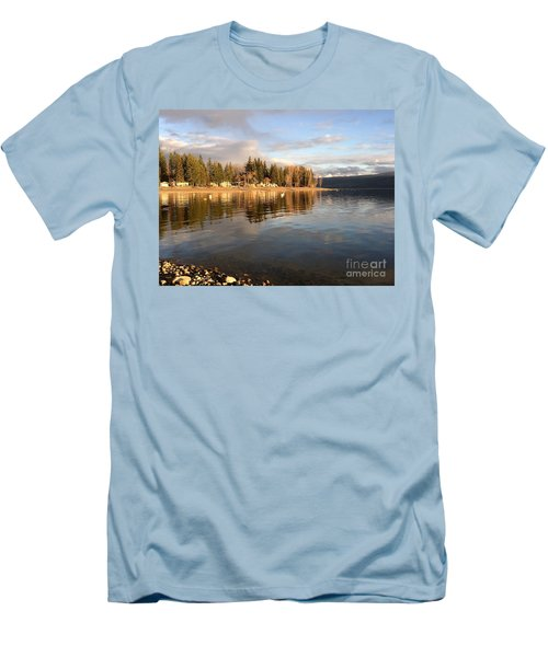 Evening By The Lake Men's T-Shirt (Slim Fit) by Victor K