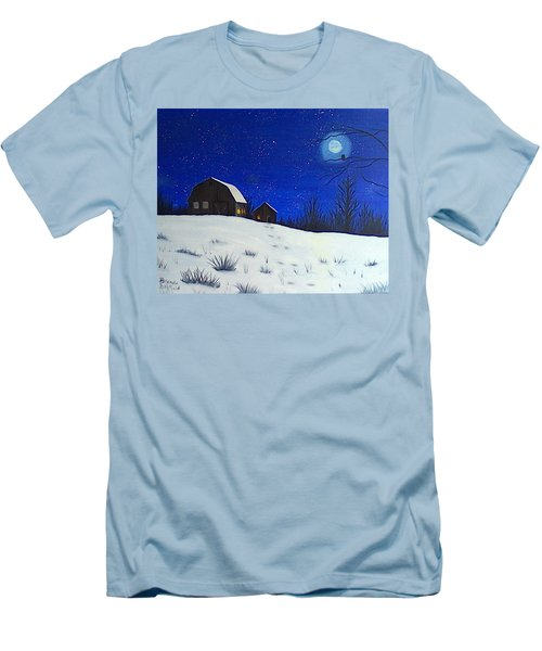 Evening Chores Men's T-Shirt (Slim Fit) by Brenda Bonfield