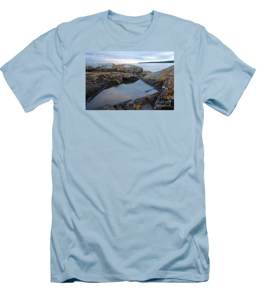 Men's T-Shirt (Slim Fit) featuring the photograph Evening Reflections by Sandra Updyke