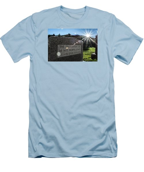 Men's T-Shirt (Slim Fit) featuring the photograph Examined Life Color by Rhys Arithson