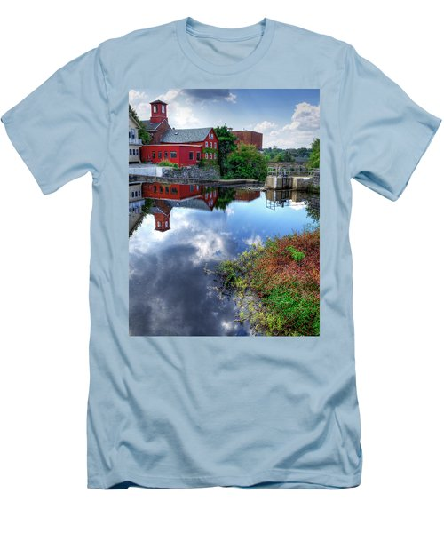 Exeter New Hampshire Men's T-Shirt (Slim Fit) by Rick Mosher