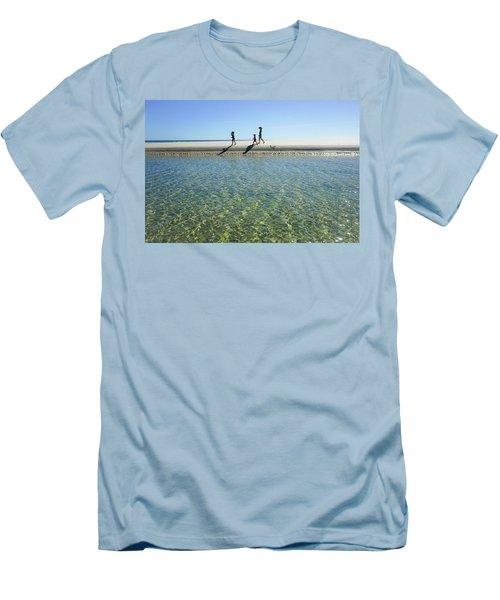 Exploring A Tidal Beach Lagoon Men's T-Shirt (Athletic Fit)