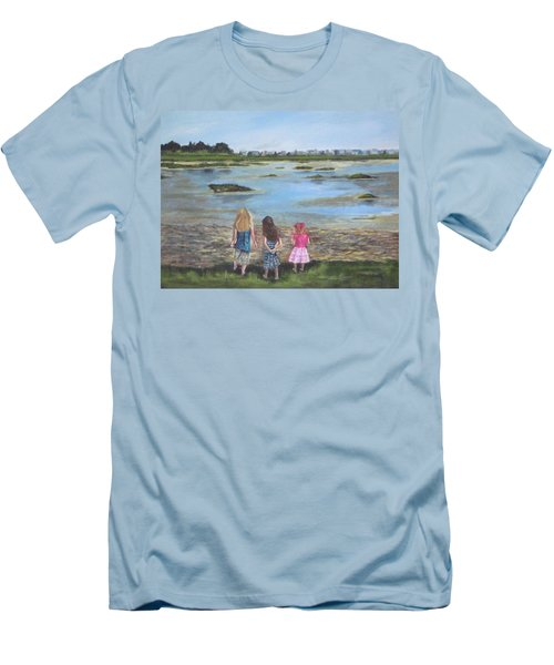 Exploring The Marshes Men's T-Shirt (Athletic Fit)