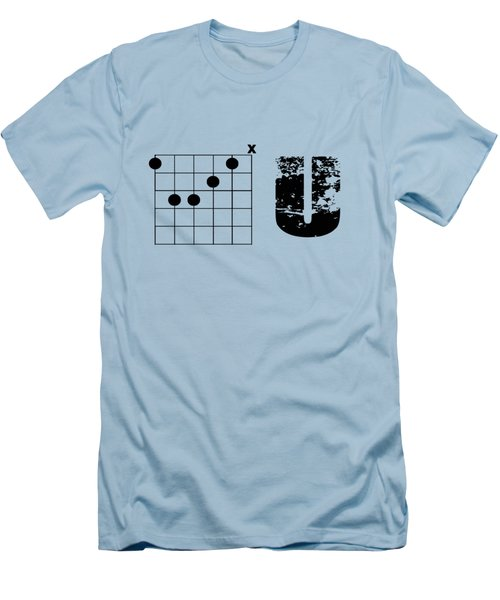 Men's T-Shirt (Slim Fit) featuring the drawing F Chord U by Bill Cannon