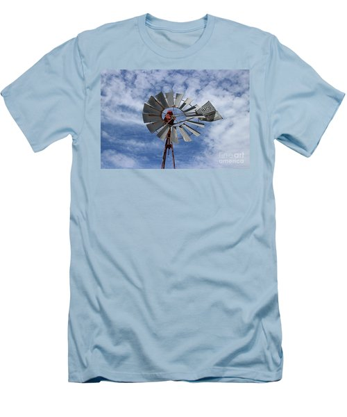 Men's T-Shirt (Slim Fit) featuring the photograph Facing Into The Breeze by Stephen Mitchell