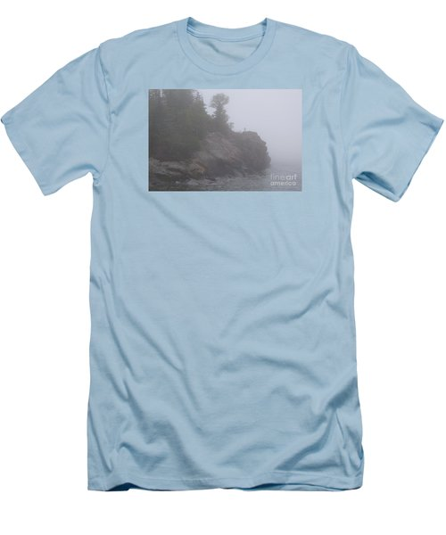 Men's T-Shirt (Slim Fit) featuring the photograph Facing The Fog by Sandra Updyke