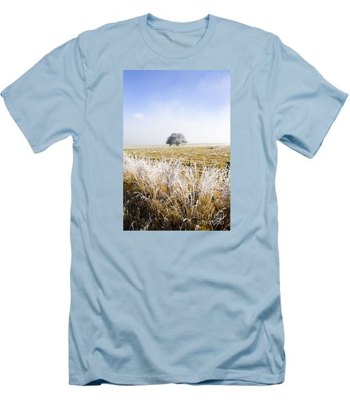 Men's T-Shirt (Athletic Fit) featuring the photograph Fairytale Winter In Fingal by Jorgo Photography - Wall Art Gallery