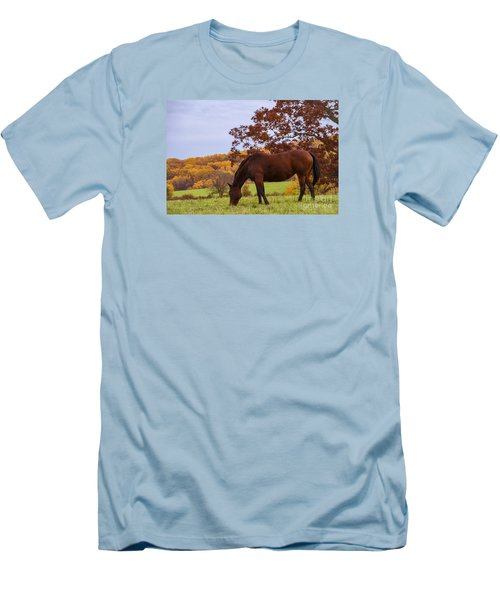 Fall And A Horse Men's T-Shirt (Slim Fit) by Rima Biswas