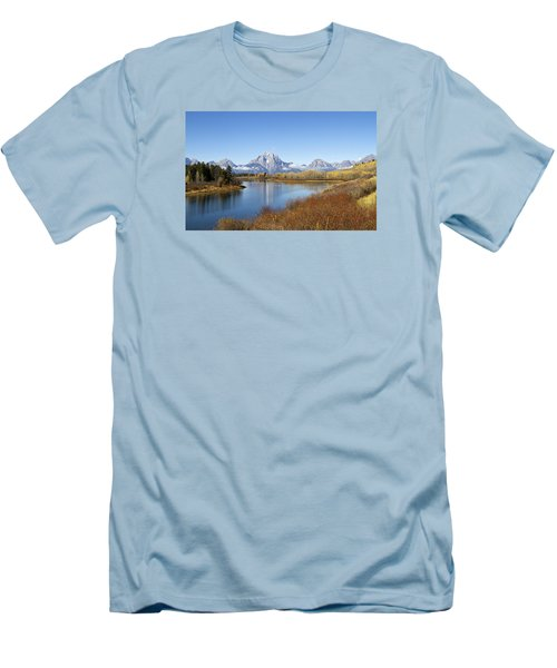 Fall At Teton -2 Men's T-Shirt (Slim Fit) by Shirley Mitchell