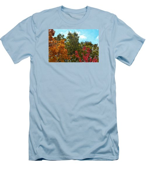 Fall Colors Men's T-Shirt (Slim Fit) by Nikki McInnes