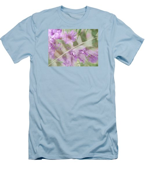 Fall Feather Men's T-Shirt (Slim Fit) by Tim Good
