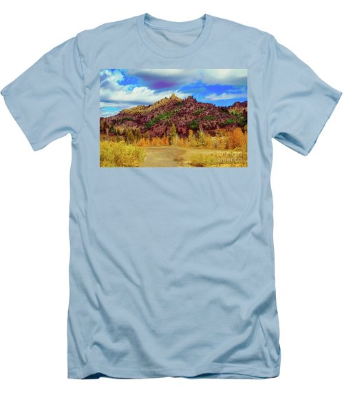 Fall In The Oregon Owyhee Canyonlands  Men's T-Shirt (Slim Fit) by Robert Bales