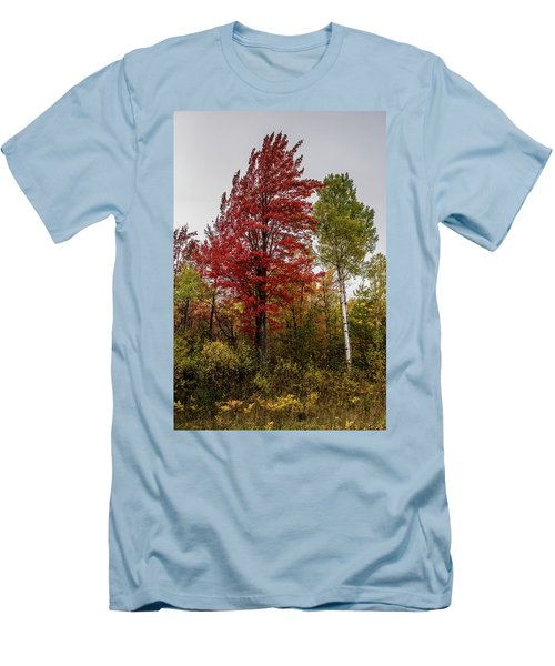 Men's T-Shirt (Slim Fit) featuring the photograph Fall Maple by Paul Freidlund